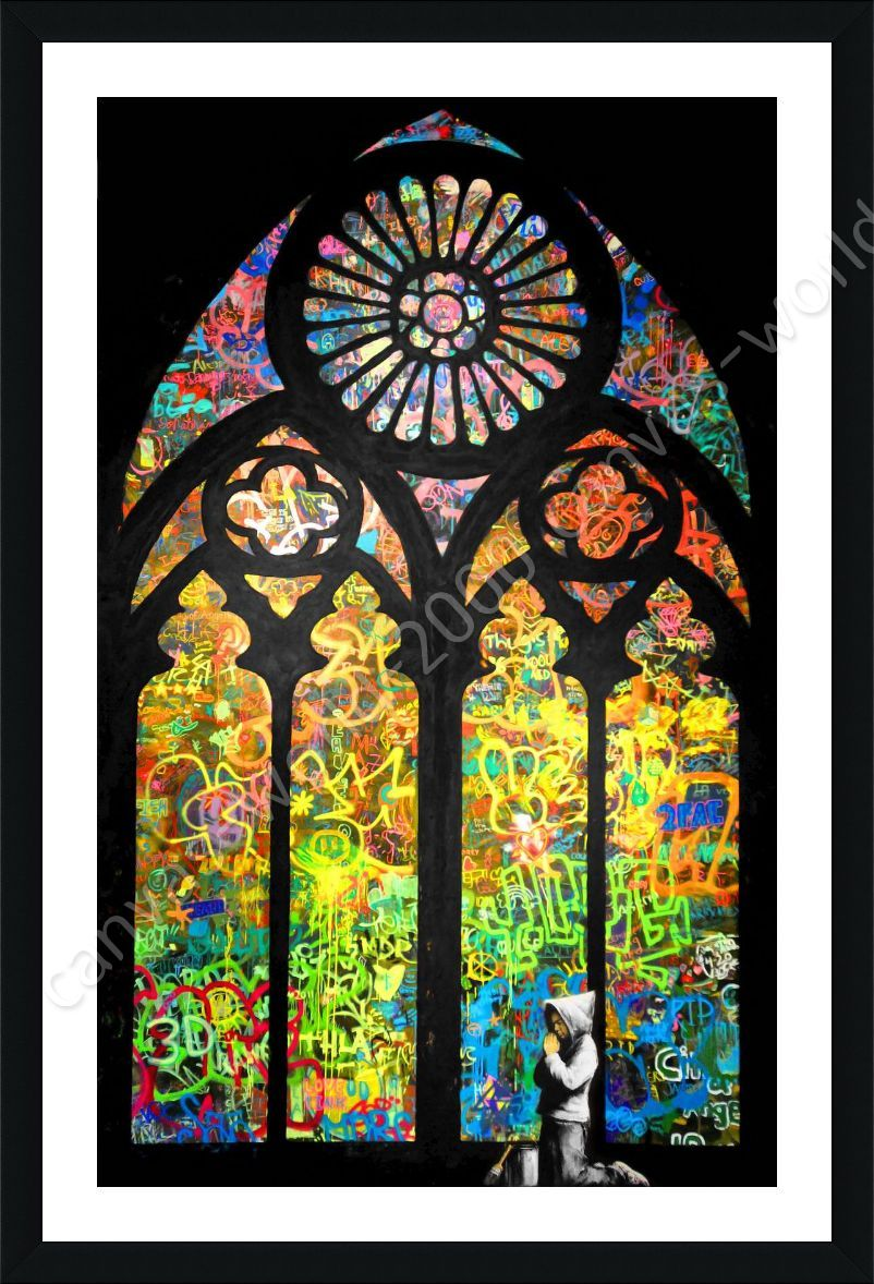 Alonline art framed poster stained glass window church for Buy art posters online