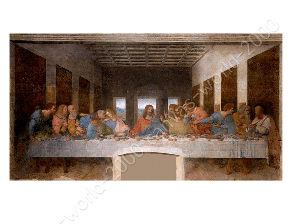 The Last Supper Wall Art canvas +gift the last supper leonardo da vinci poster painting