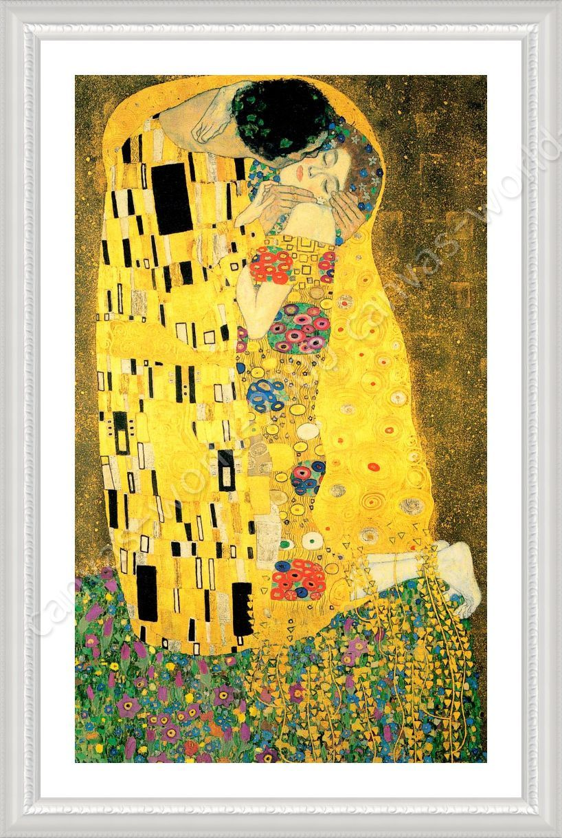 Alonline Art - FRAMED Poster The Kiss Gustav Klimt Frame Framed ...