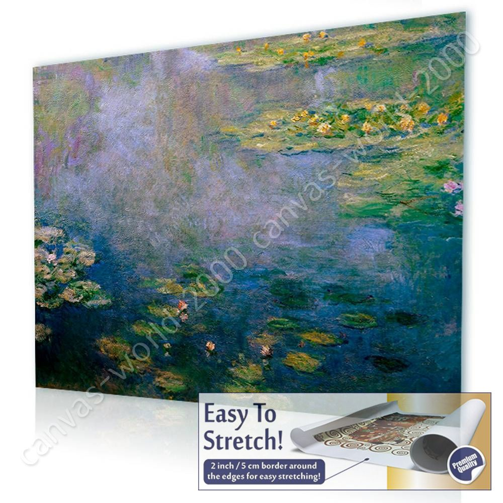 canvas gift water lilies claude monet wall art posters paints, Home designs
