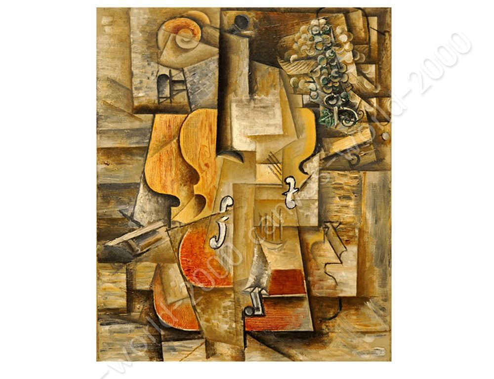 CANVAS +GIFT Violin And Grapes Pablo Picasso Painting Posters Paints ...