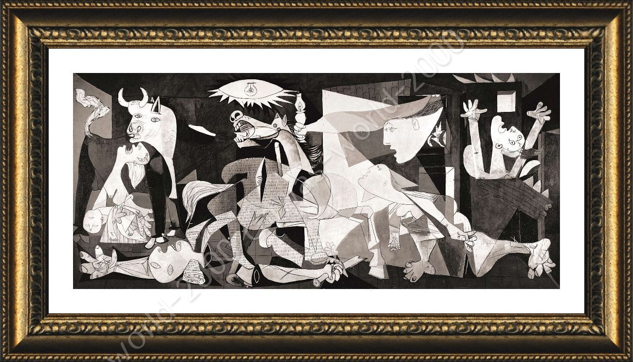 framed poster guernica pablo picasso framed wall art framed posters for bedroom ebay. Black Bedroom Furniture Sets. Home Design Ideas