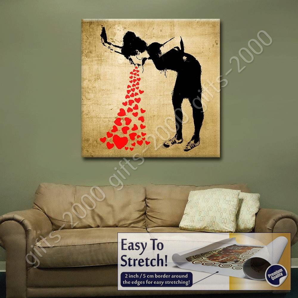 Rolled Lovesick by BanksyCanvas Wall art giclee artwork HD painting