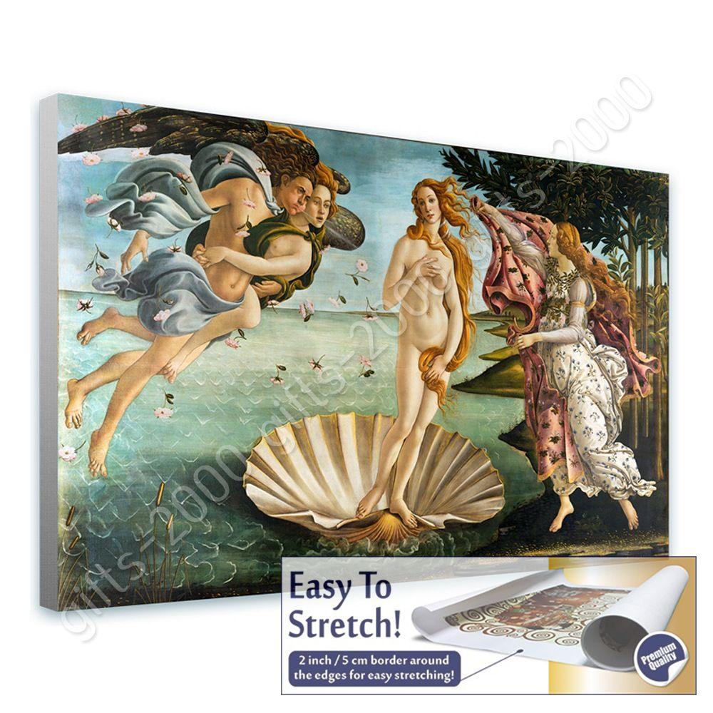 Rolled The Birth Of Venus by Sandro BotticelliCanvas Wall art artwork