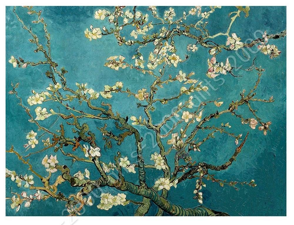 Canvas Rolled Almond Blossom Vincent Van Gogh Paintings