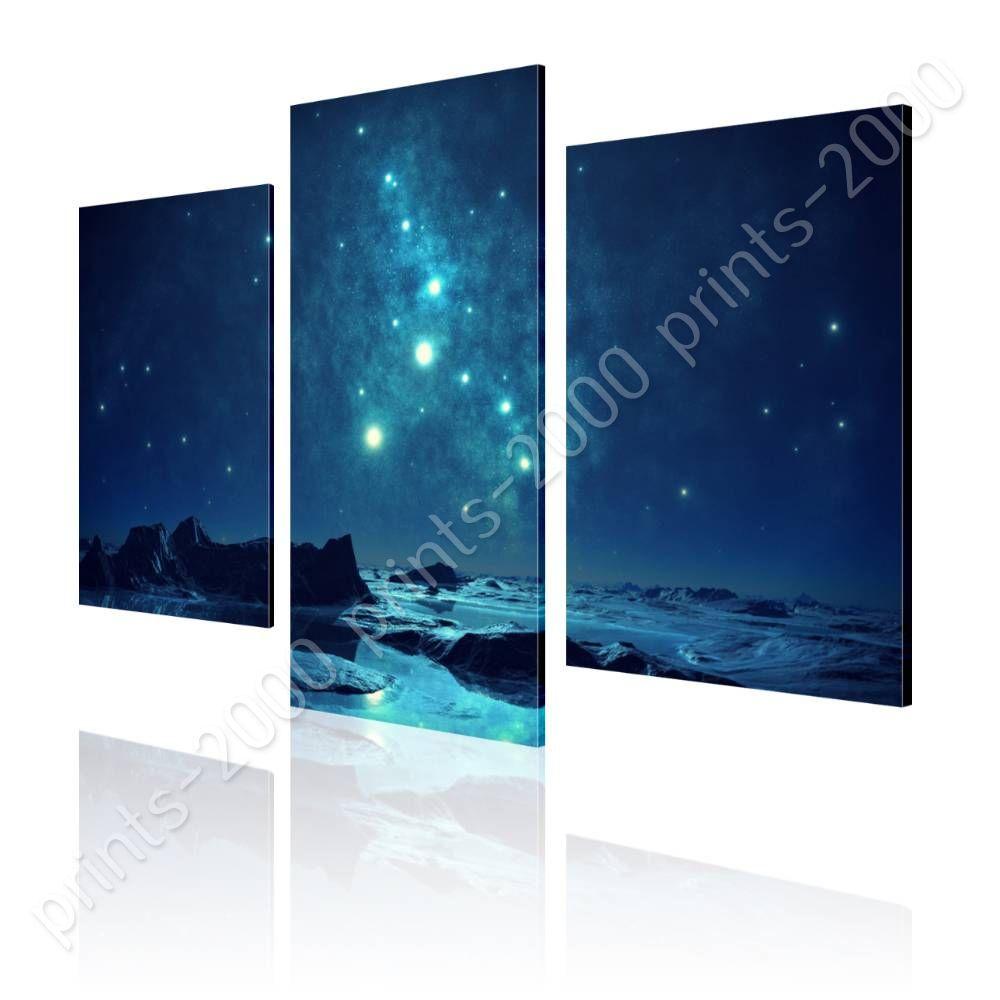 POSTER Or STICKER Decals Vinyl Romantic Blue Sky Split 3 Panels 3 Panels