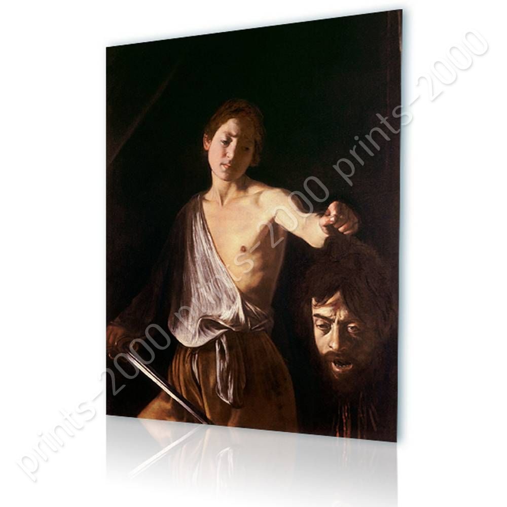 David With The Head Of Goliath by CaravaggioPoster or Wall Sticker Decal