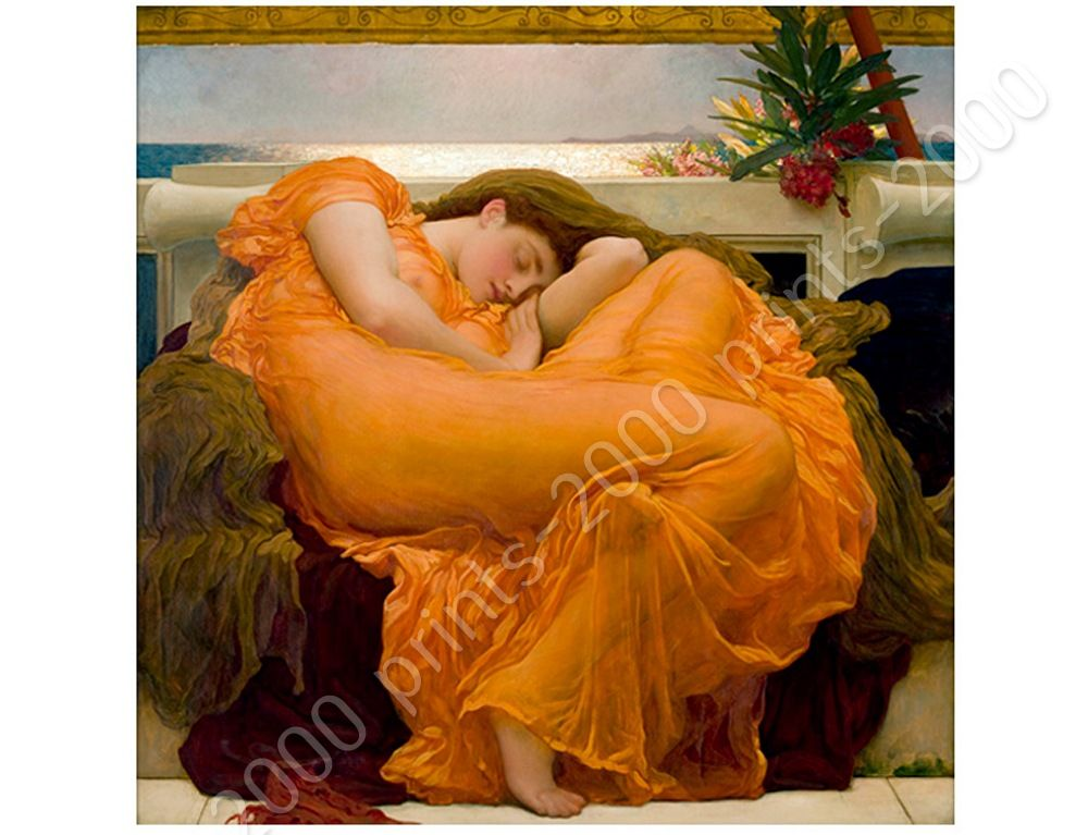 Flaming June by Frederic LeightonPoster or Wall Sticker DecalWall art