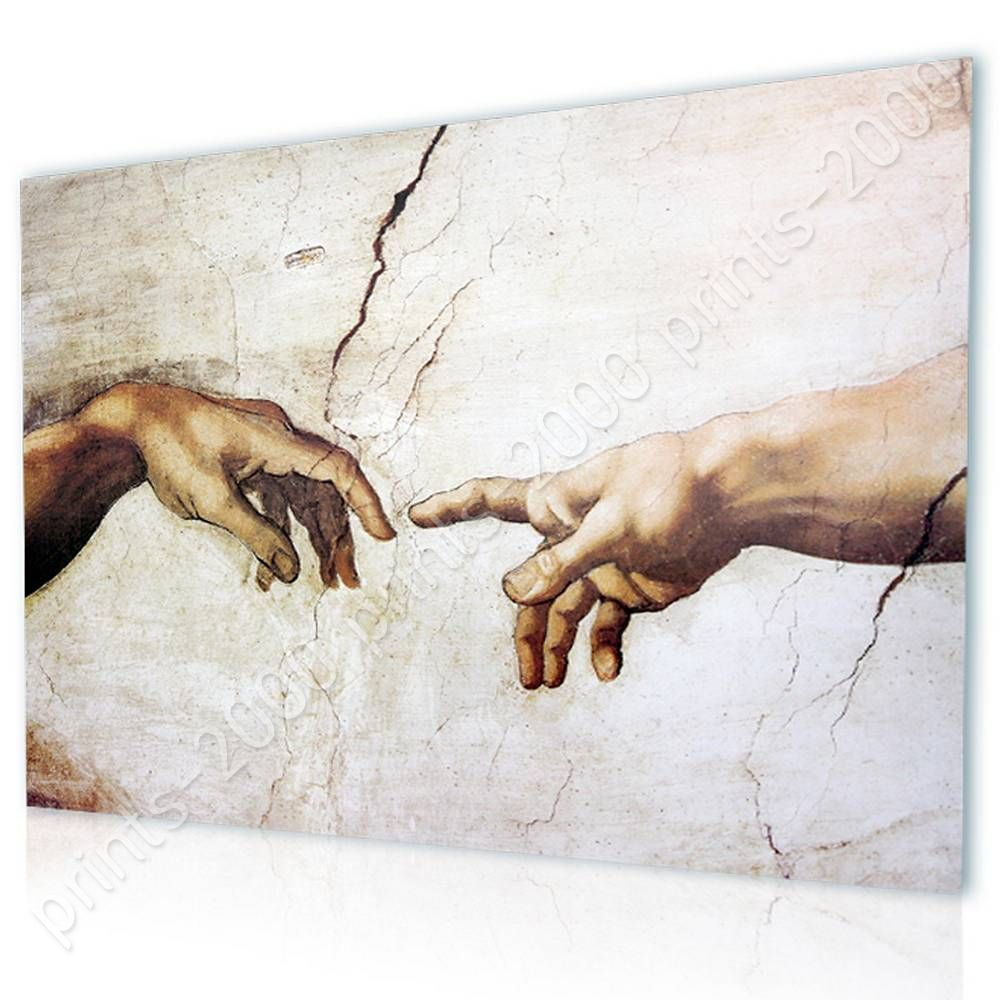 The Creation Of Man by MichelangeloPoster or Wall Sticker DecalWall art