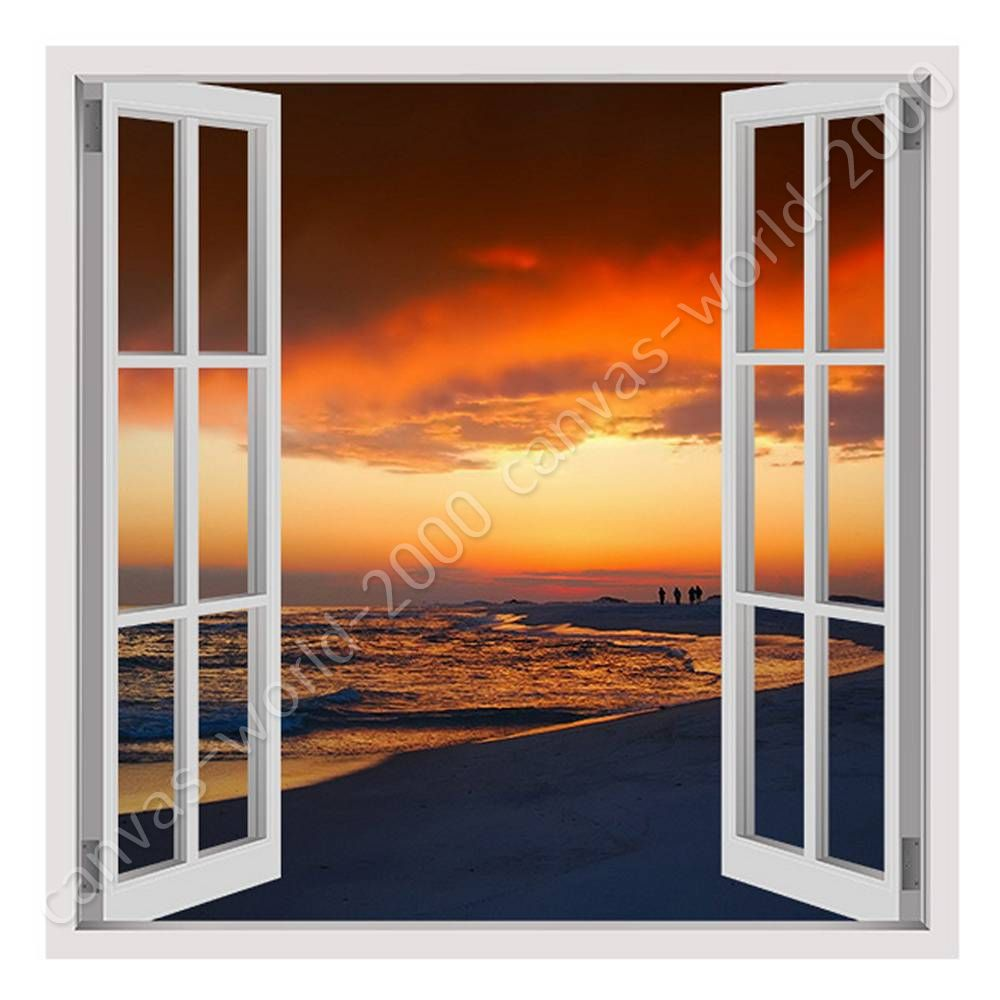 Image Is Loading Florida Oceans Sunset By Fake Window Canvas