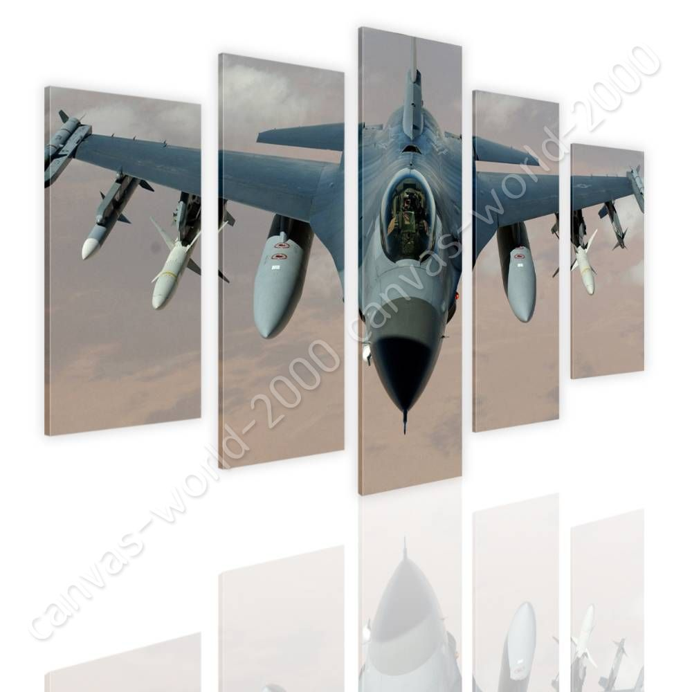 Air Force Fighter Pilot by Split 5 Panels   Canvas (Rolled)   5 Panels Wall art