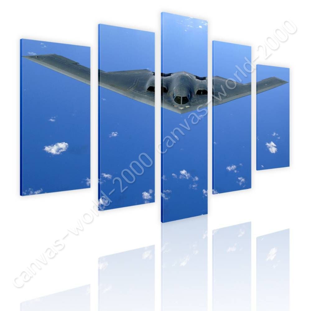 Military Aircraft by Split 5 Panels   Canvas (Rolled)   5 Panels Wall art HD