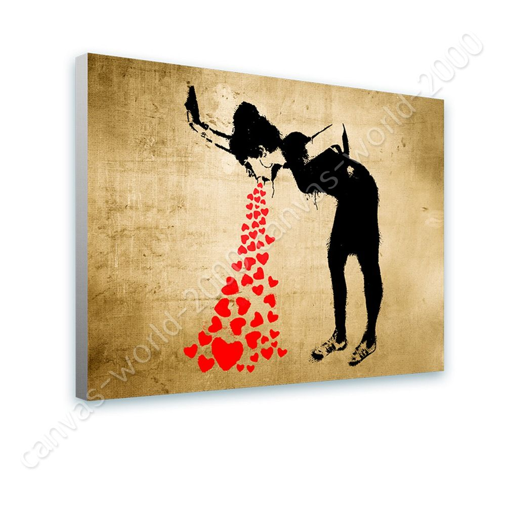 CANVAS (Rolled) Girl Lovesick Banksy Art Wall Art Pictures Artwork ...