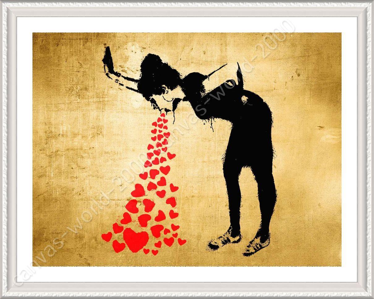 FRAMED Poster Girl Lovesick Banksy Framed Wall Decor Framed Art ...