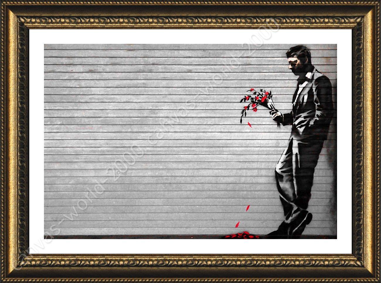 Póster enmarcado Nueva York esperando en vano Banksy Cuadro ...