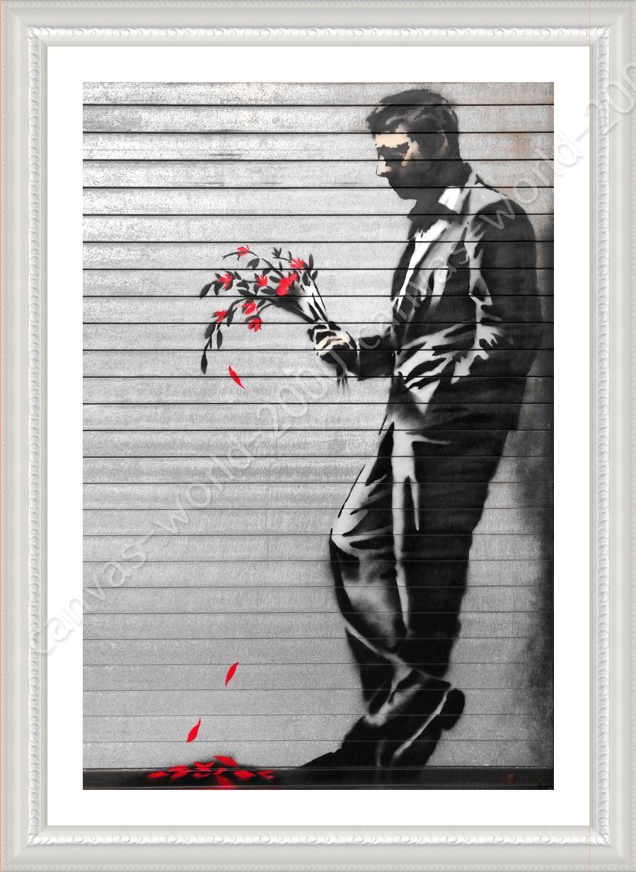 FRAMED Poster New York Waiting In Vain Banksy Framed Paintings For ...
