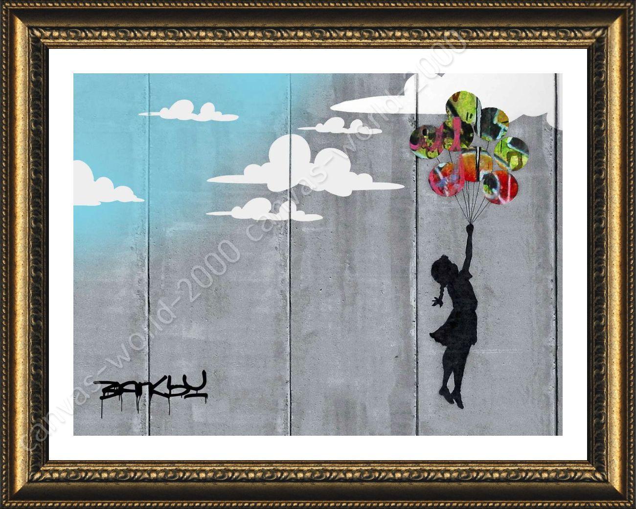 Urban Graffiti Banksy Collage Wall Art Canvas Print Picture Ready To Hang Ebay