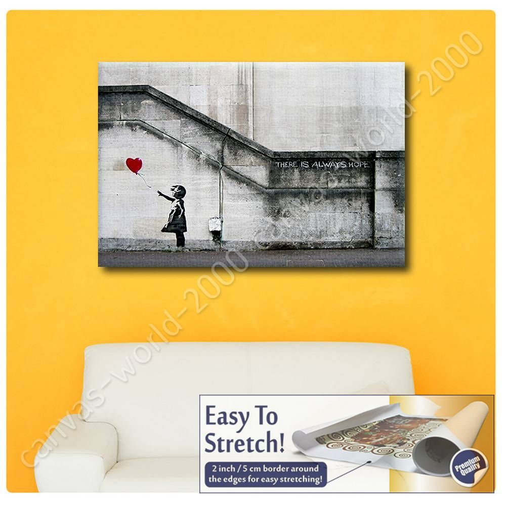 CANVAS (Rolled) There Is Always Hope Banksy Wall Art Pictures Oil ...