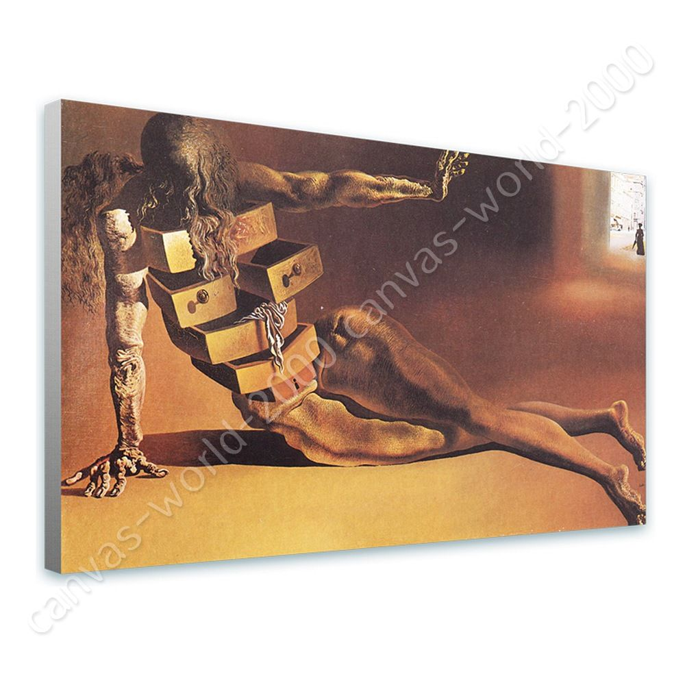 Ready to hang canvas anthropomorphic cabinet salvador dali for Kitchen cabinets lowes with dali wall art