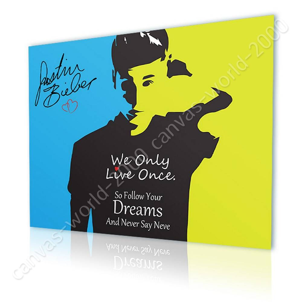 READY TO HANG CANVAS Justin Bieber Never Say Never Alonline DSN ...
