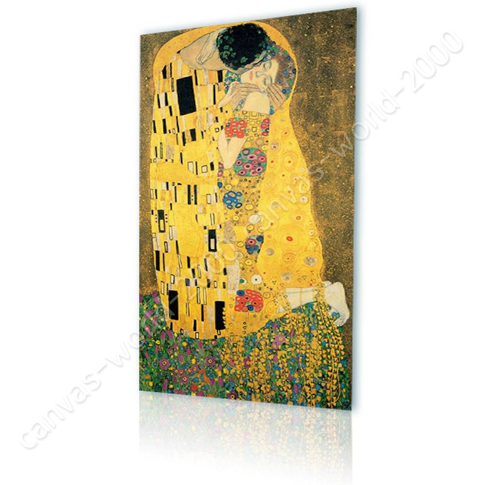 READY TO HANG CANVAS The Kiss Gustav Klimt Frame Framed Wall Art ...