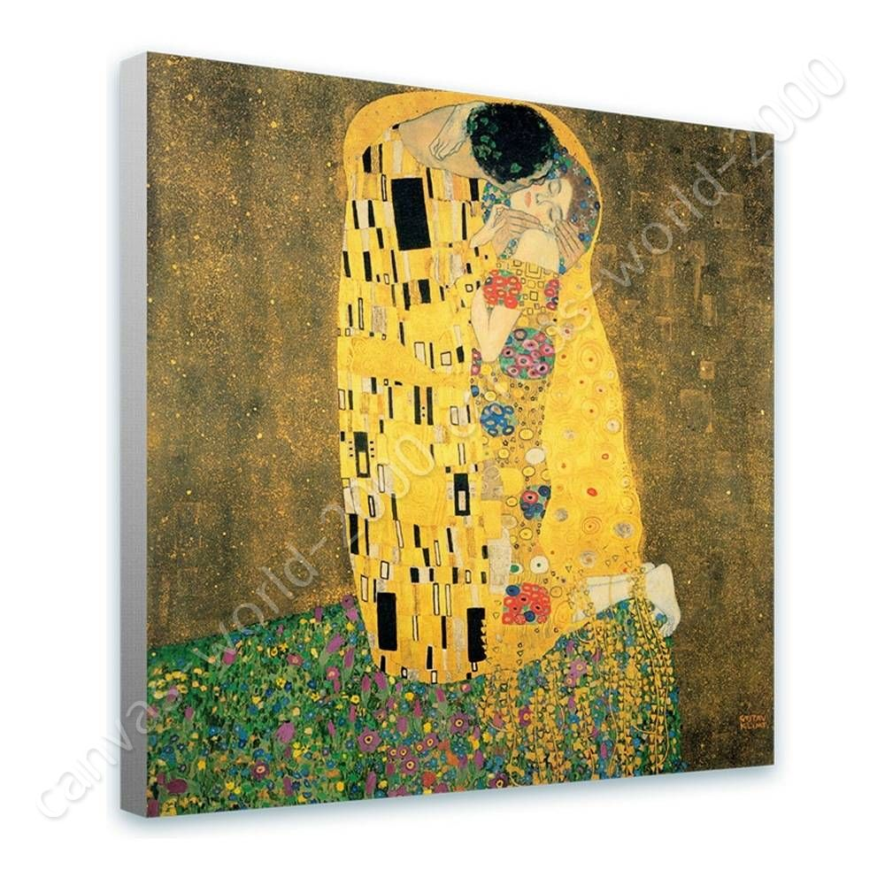 READY TO HANG CANVAS The Kiss Gustav Klimt Framed Wall Art Framed ...