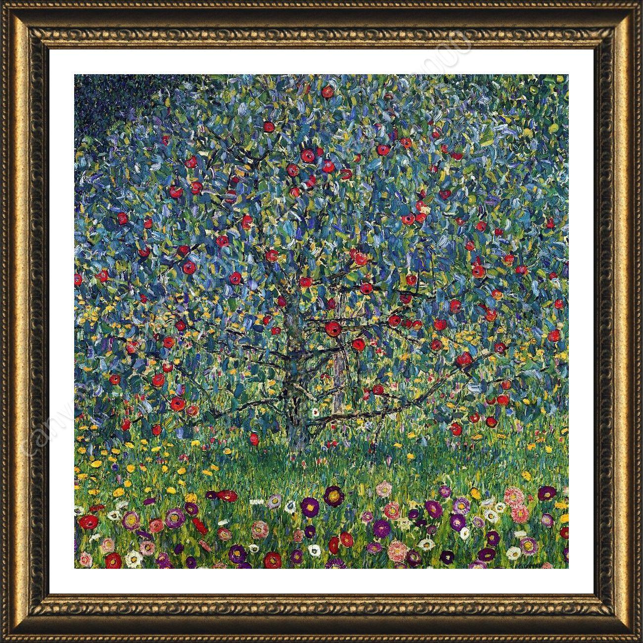 FRAMED Poster Apple Tree Gustav Klimt For Living Room Framed Paintings