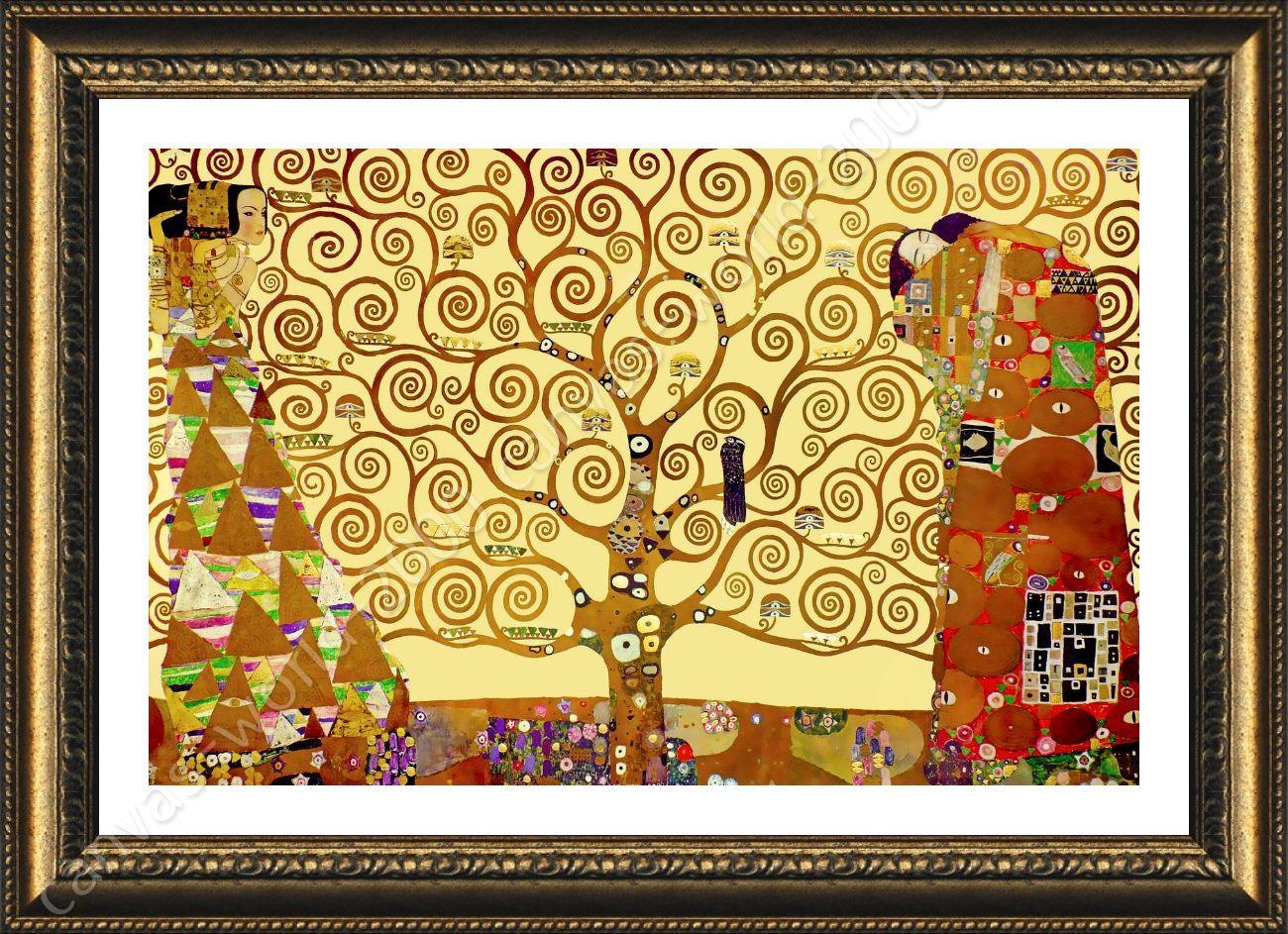 Tree Of Life Yellow by Gustav Klimt | Framed canvas | Wall Art ...