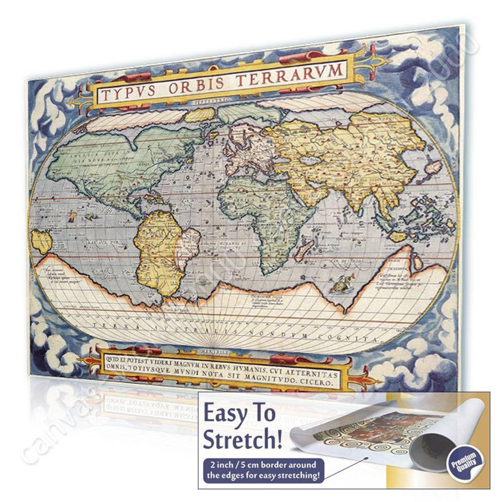Canvas rolled antique old vintage v3 world map canvas for living canvas rolled antique old vintage v3 world map gumiabroncs Image collections