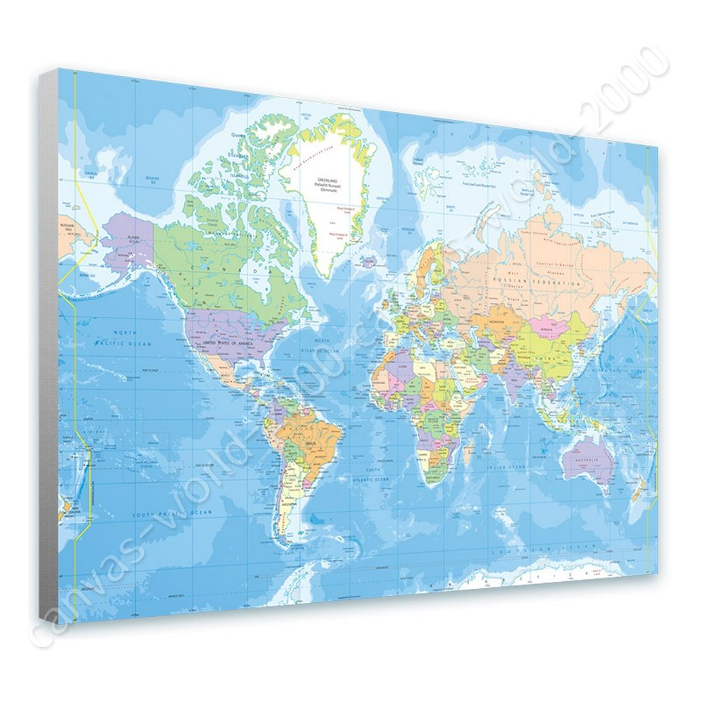 Ready to hang canvas political modern world map framed print framed ready to hang canvas political modern world map framed print framed art gumiabroncs Gallery