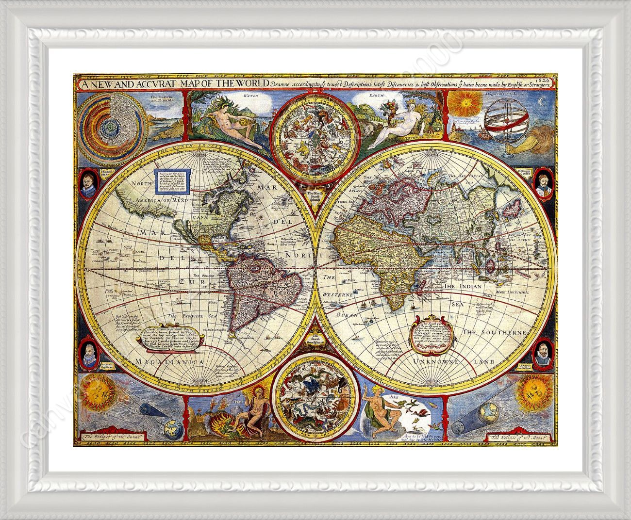 Framed poster antique old vintage v1 world map framed print framed framed poster antique old vintage v1 world map framed print framed artwork gumiabroncs Images