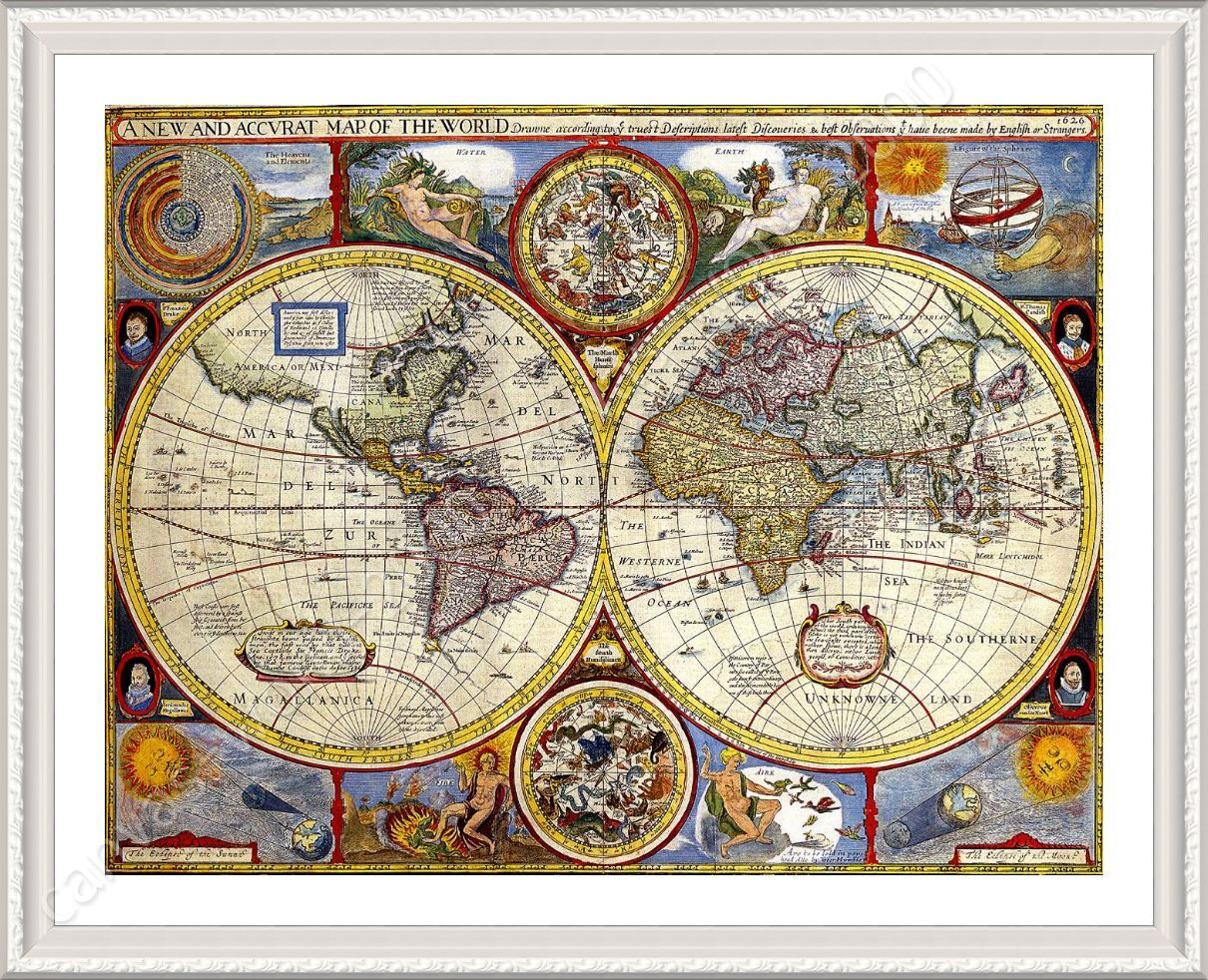 Framed poster antique old vintage v1 world map framed print framed poster enmarcado mapa antiguo mundo antiguo vintage v1 gumiabroncs Images