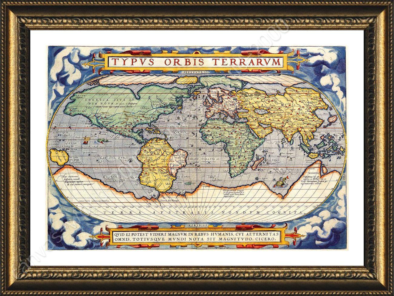 Pster enmarcado mapa antiguo mundo antiguo vintage v3 arte framed poster antique old vintage v3 world map framed art framed wall decor gumiabroncs Images