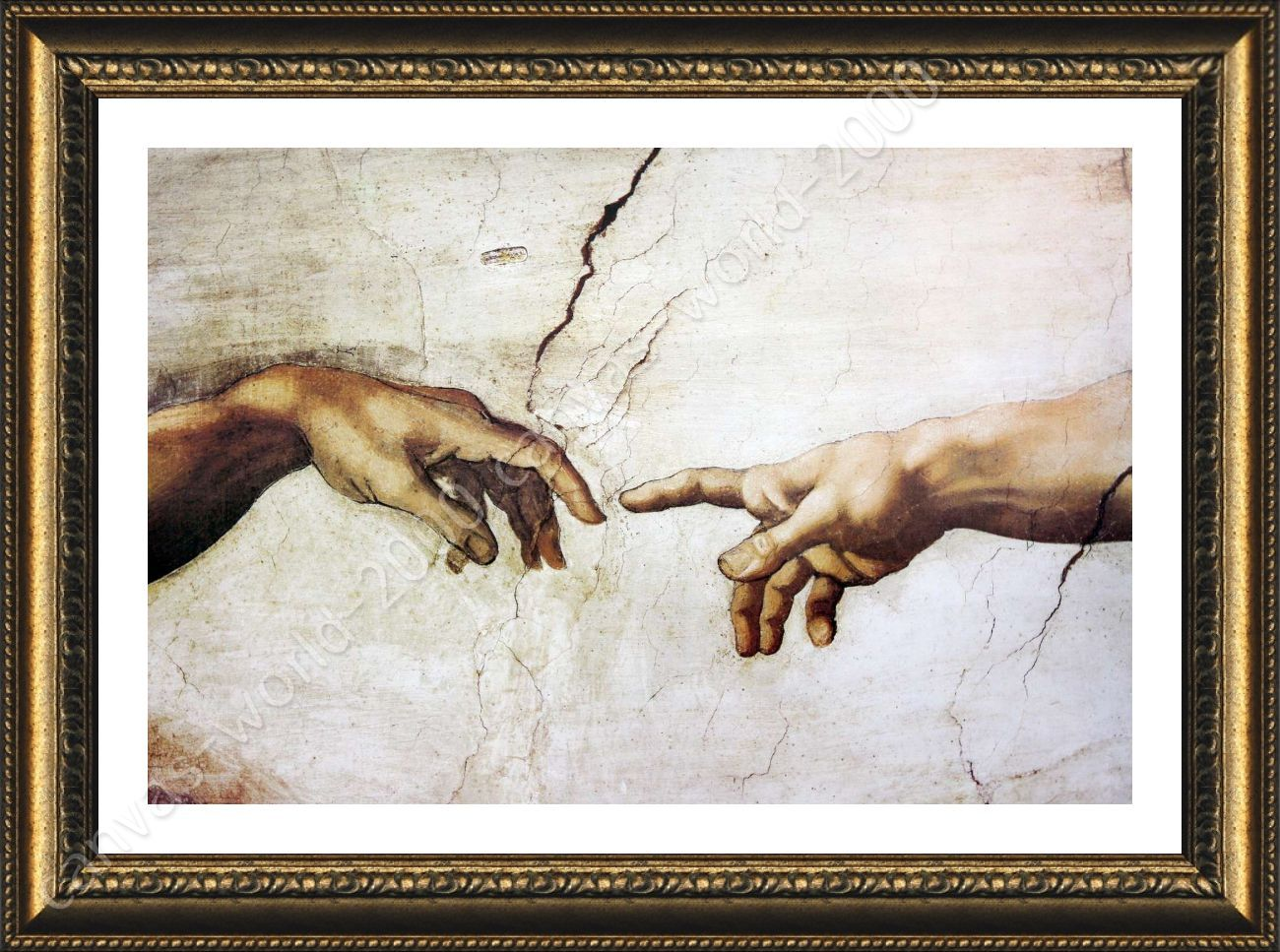 The Creation Of Man by Michelangelo | Framed canvas | Artwork For ...