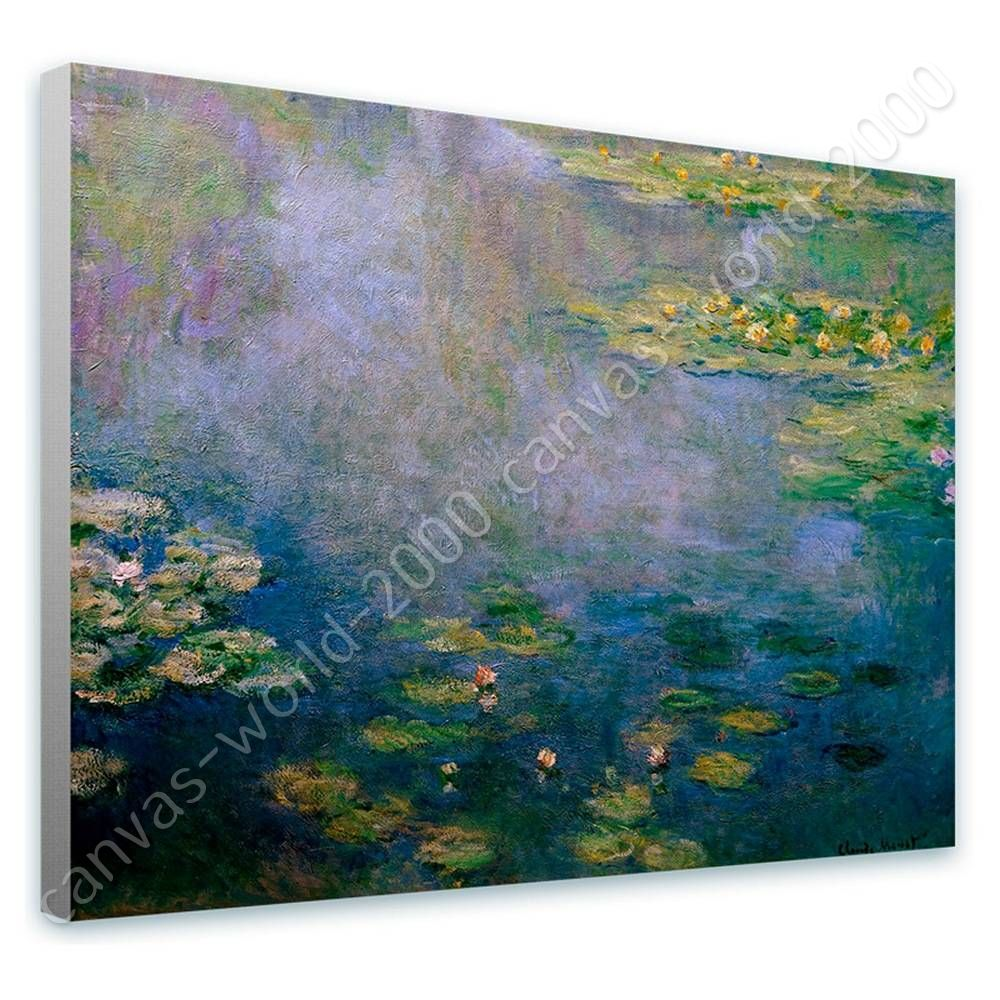 Water Lilies by Claude Monet   Canvas (Rolled)   wand kunst HD kunstwork malerei