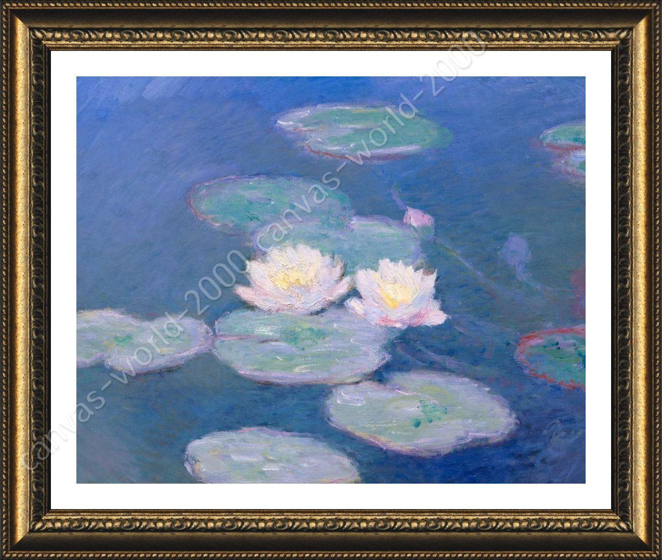 FRAMED Poster Water Lilies Claude Monet Giclee Framed Canvas Wall ...