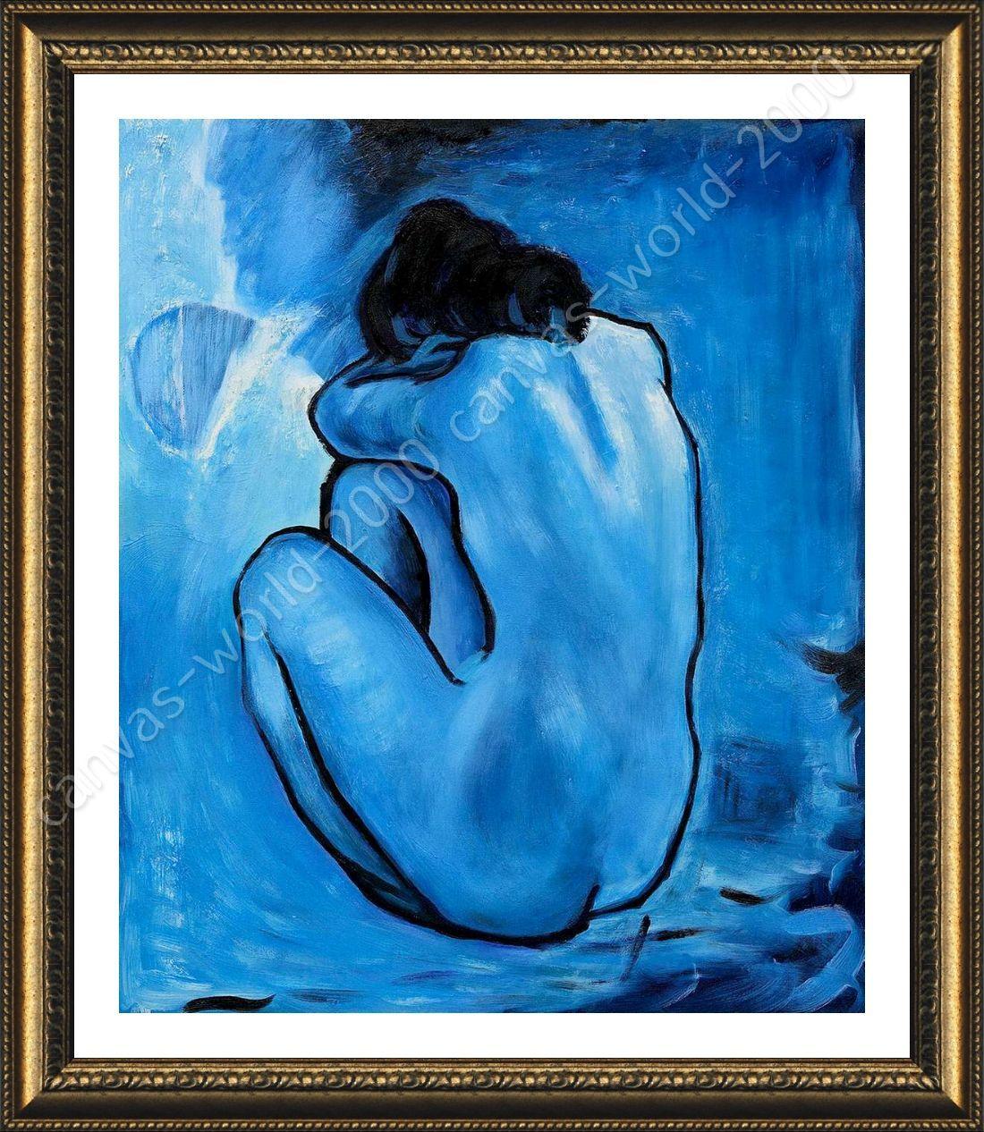 Póster enmarcado azul desnudo Pablo Picasso para Dormitorio ...