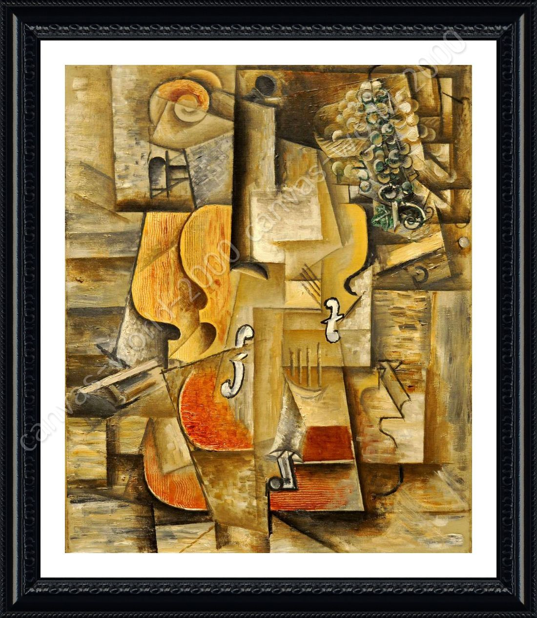 Violin And Grapes by Pablo Picasso | Framed canvas | Home Picture ...