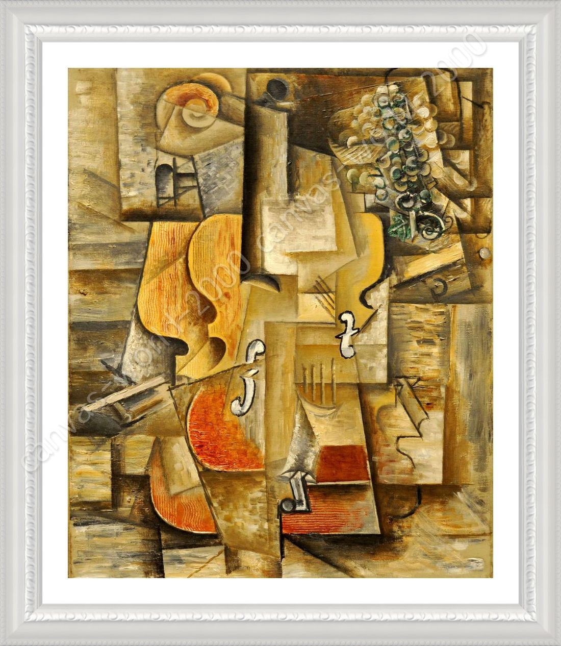 FRAMED Poster Violin And Grapes Pablo Picasso Giclee Framed Decor ...