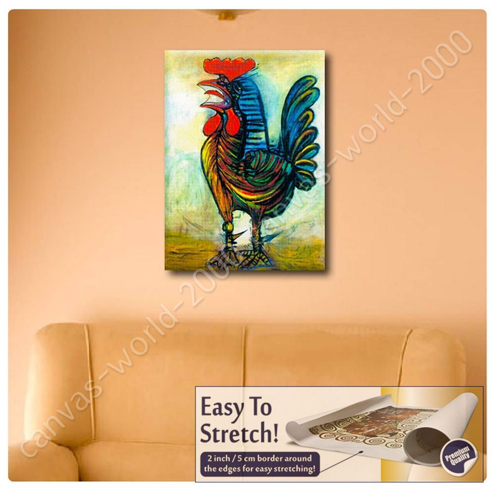 CANVAS (Rolled) The Rooster Pablo Picasso Wall Decor Artwork Oil ...