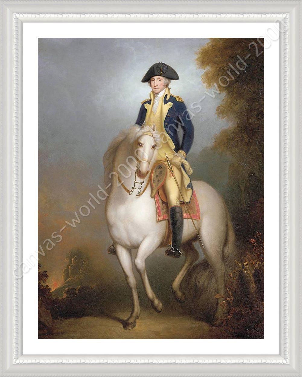 Póster enmarcado George Washington A Caballo Rembrandt enmarcado ...