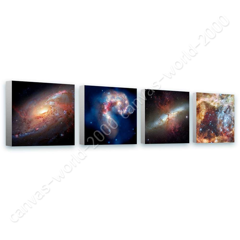 Nasa Stars Hubble Astronomy by Space Galaxy   Canvas (Rolled)   Set Of 4 Wall
