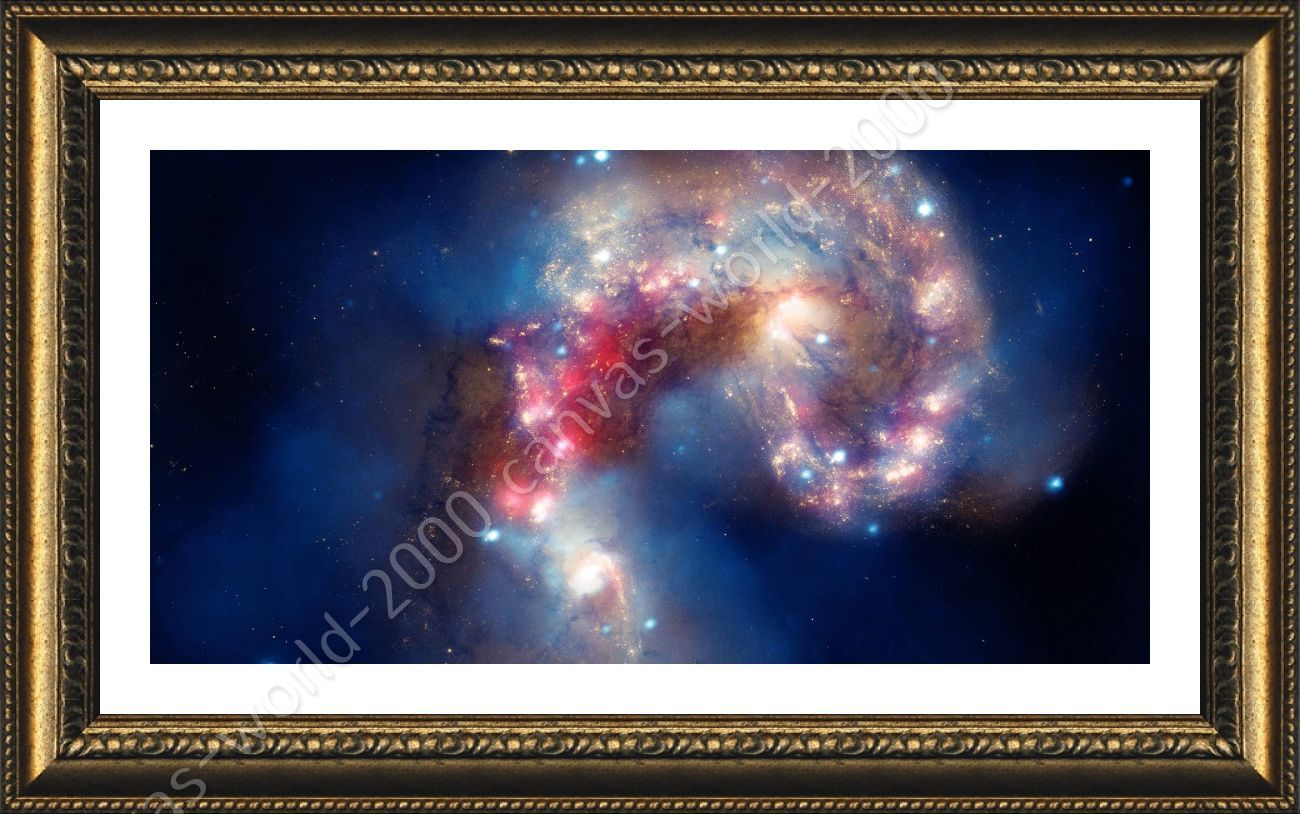 hubble telescope nasa by space galaxy framed canvas. Black Bedroom Furniture Sets. Home Design Ideas
