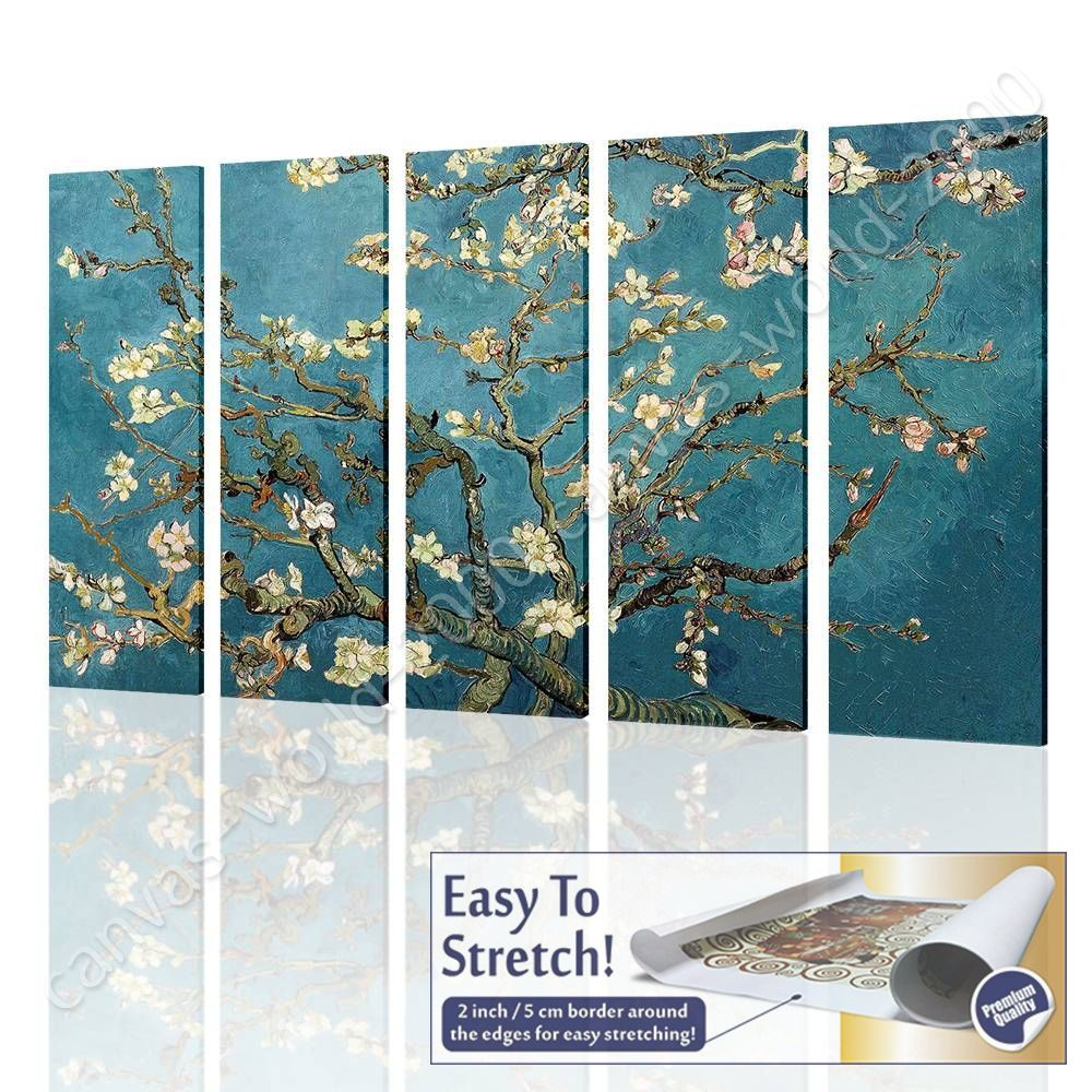 CANVAS (Rolled) Almond Blossom Vincent Van Gogh 5 Panels Art Oil ... for Almond Blossom Van Gogh Poster  61obs