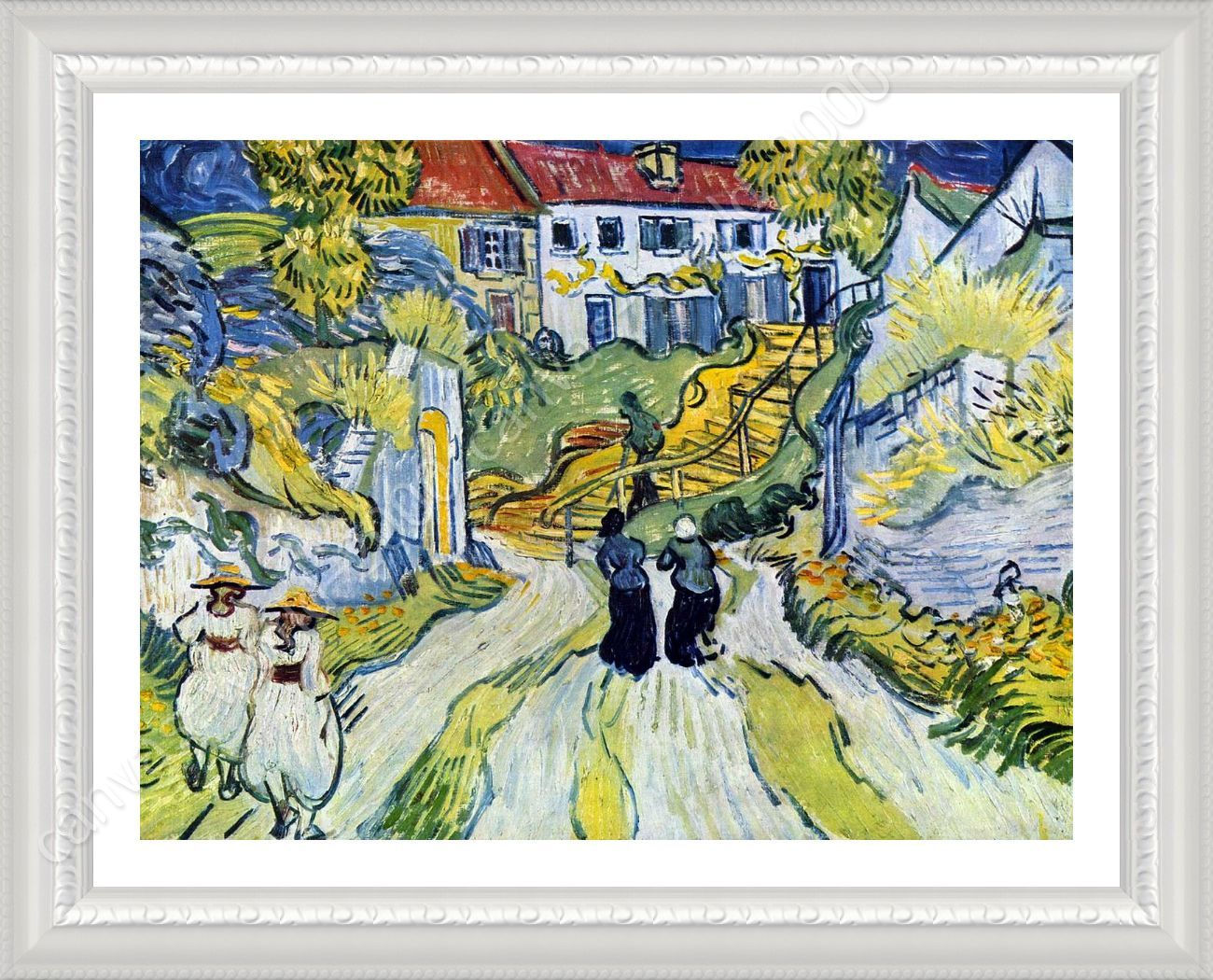 FRAMED Poster Stairway At Auvers Vincent Van Gogh Framed Art For ...