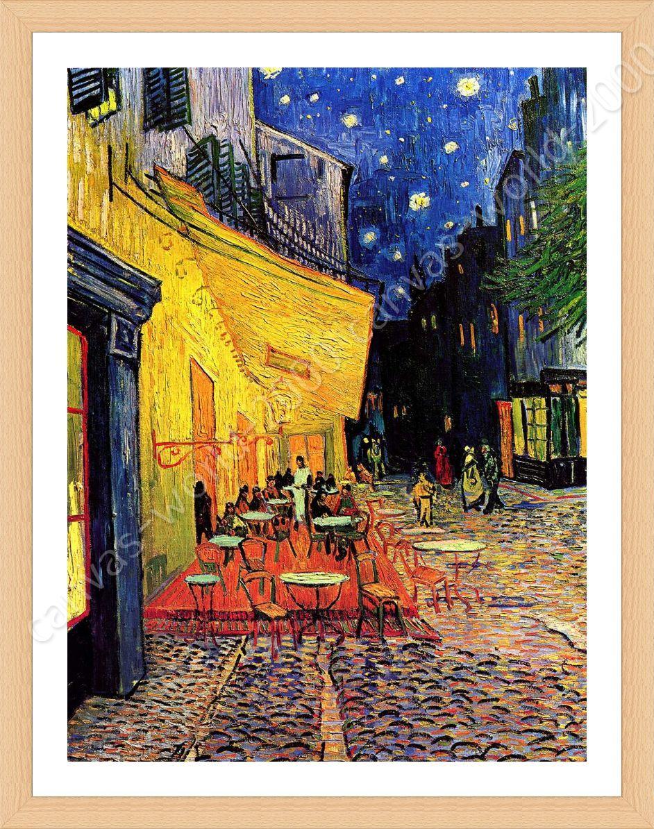 Cafe Terrace by Vincent Van Gogh | Framed canvas | Study Decor ...