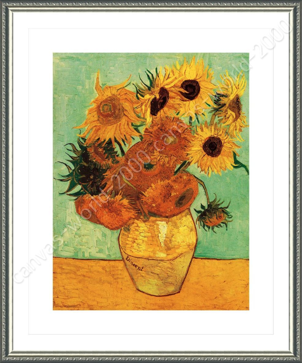 FRAMED Poster Sunflowers Tournesols Vincent Van Gogh Framed Art ...