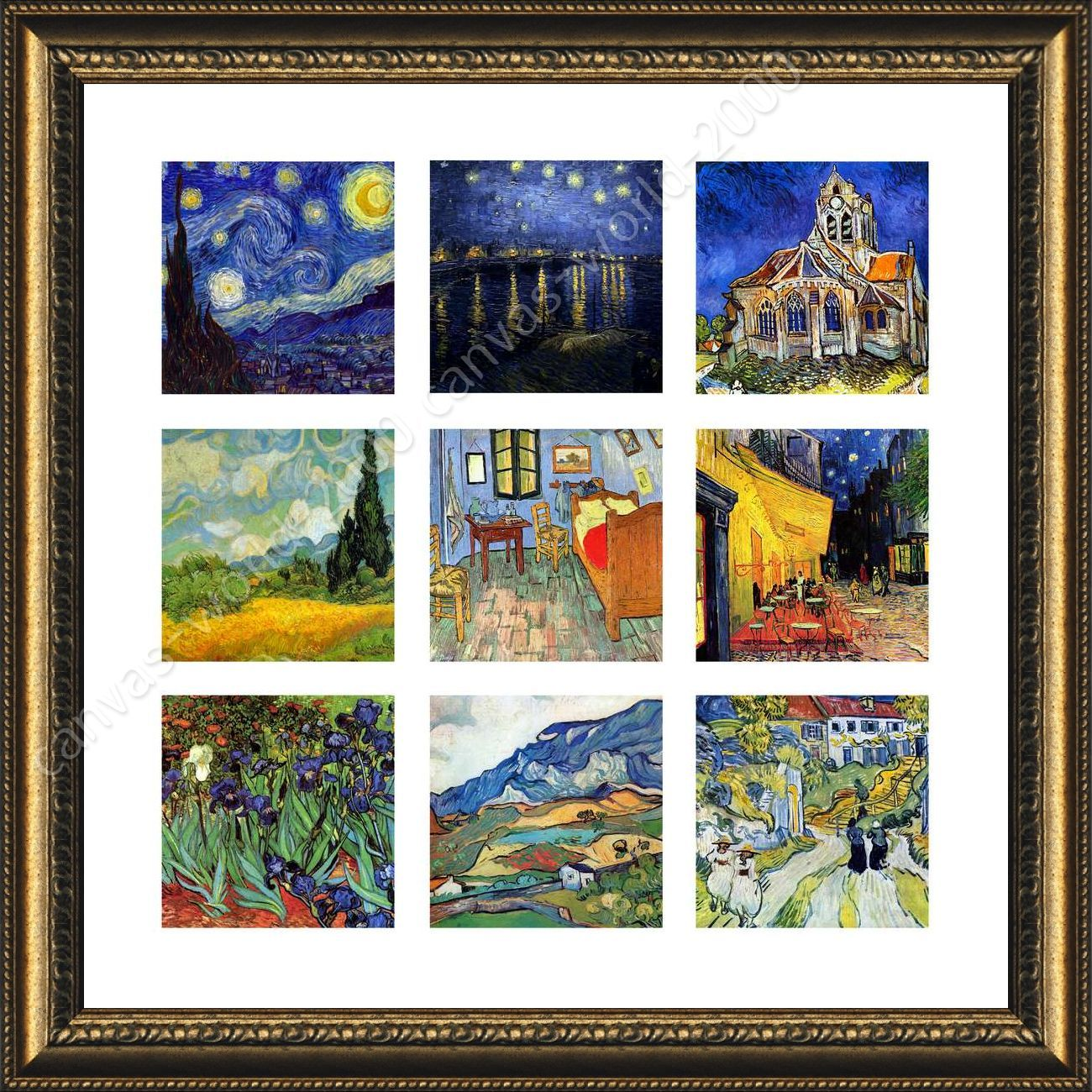 511ad0360da Collage  4 Starry Night Cafe by Vincent Van Gogh