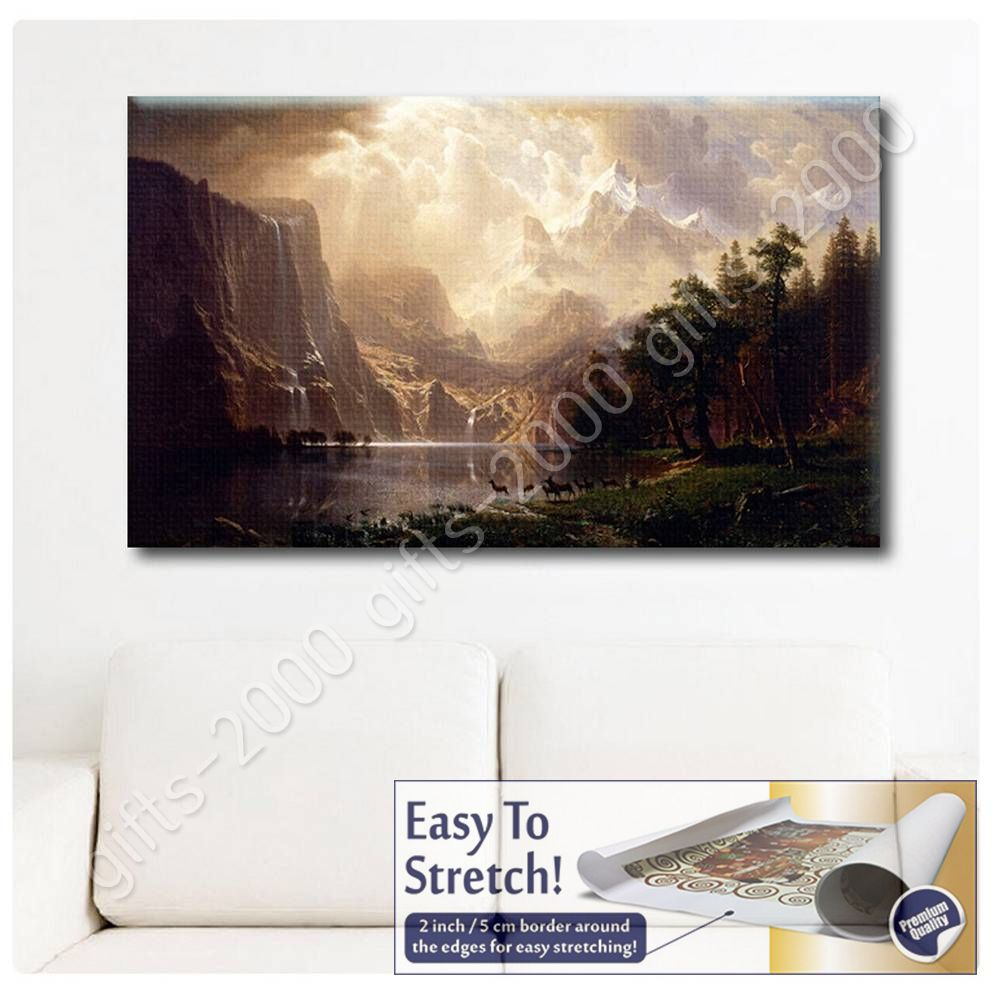 Wasatch Mountain Stretched Canvas 24x36 Eurographics 1751-63031 Bierstadt