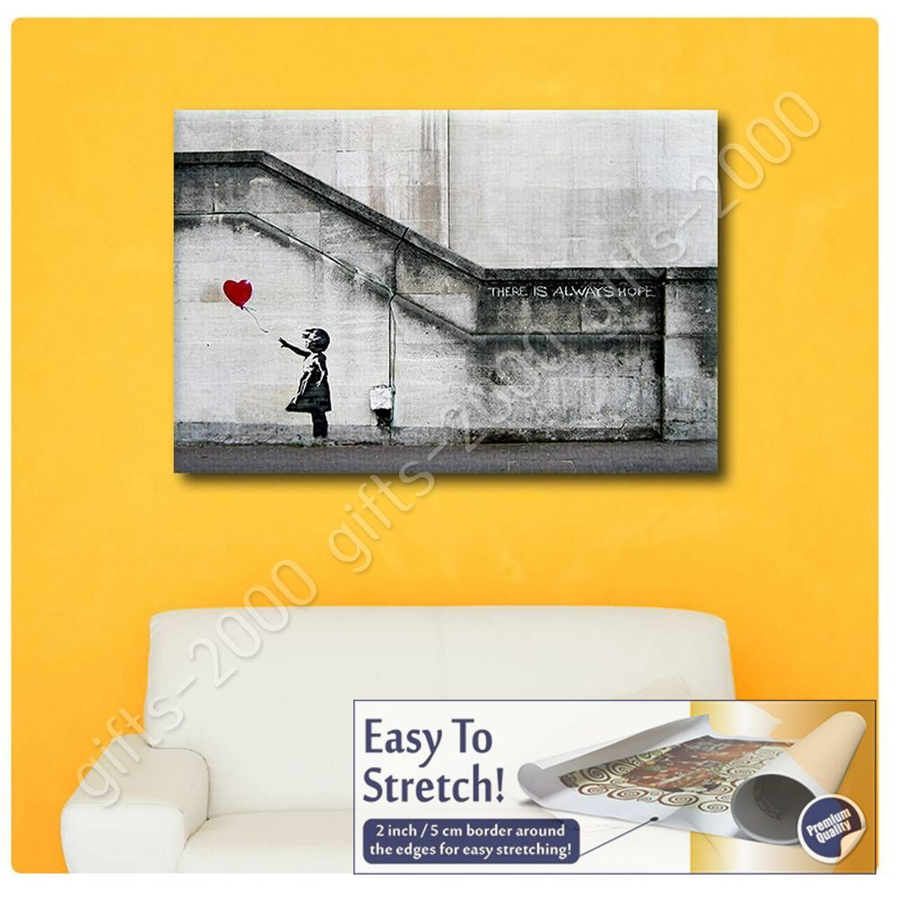 CANVAS (Rolled) There Is Always Hope Banksy Canvas For Home Decor ...